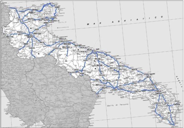 Cartina Strade Puglia.M5s Annuncia 30 Milioni Per Riparare Strade E Ponti Della Puglia